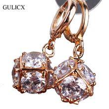 Gulicx мода 18 К позолоченные серьги для женщин длинные мотаться орать кристалл CZ циркон себе свадебный бал ювелирные изделия E304(China (Mainland))