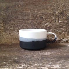 Japanese inspired ceramics – the three tones of this mug look like a landscape