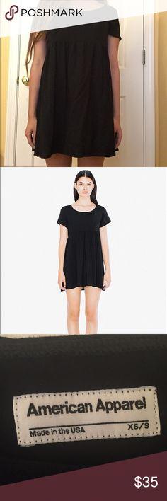 American Apparel Black Rayon Babydoll Dress Hardly worn black Babydoll dress from American Apparel. Original price: $52 in stores. Size XS/S American Apparel Dresses Mini