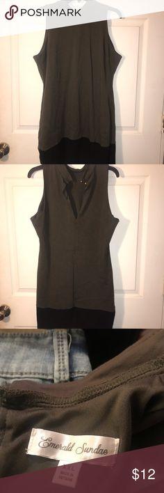 5ef923e063 Spotted while shopping on Poshmark  Emerald Sundae dress olive black!   poshmark