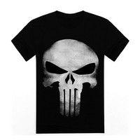 Kup si 3d Cool style the punisher skull t shirt brand men punisher black t-shirt men with top quality printing men clothes za Wish - Nakupování je zábava