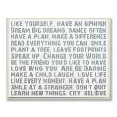 Stupell Industries Like Yourself Inspirational Typography Wall Plaque