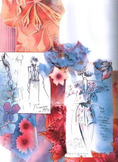 I really like the composition of figurines and textiles - Famous Last Words Sketchbook Layout, Textiles Sketchbook, Arte Sketchbook, Sketchbook Inspiration, Fashion Portfolio Layout, Fashion Design Sketchbook, Fashion Design Drawings, Art Portfolio, Fashion Collage