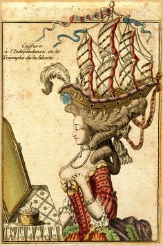 A certain noblewoman actually wore this ship with full sails to a soiree in Paris...