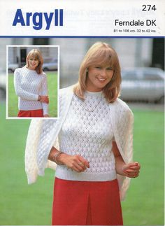 1970s ladies lacy twin set cardigan and sweater / by Hobohooks, £1.20