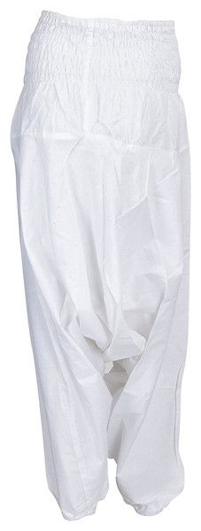 Harem Pants – Thai Fisherman pants comfy White Harem Loose Pant – a unique product by IndianCraftPalace on DaWanda