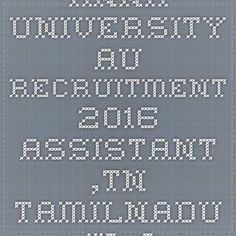 Anna University AU Recruitment 2016 Assistant ,TN TamilNadu Jr Asst 120 post Apply Online @ Annauniv.edu - |Recruitment Result Admit Card| |Application Form |Answer Key | Cut Off|