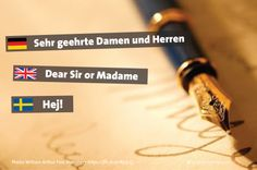 How to #address a formal #letter in #German #English and #Swedish