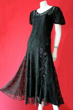lace dress and petticoat - Vintage Clothing Vintage Dresses, Vintage Outfits, Lace Dresses, Unique Fashion, Vintage Fashion, Vintage Clothing Online, Lace Dress Black, Outfits For Teens, 1930s