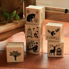 DIY Cute Kawaii Wooden Stamp Animal Cat Dog Bird Tree Stamps Set for Diary Photo Album Scrapbooking Stationery Free shipping 610 //Price: $7.95 & FREE Shipping //     #catgift
