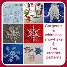 Gorgeous and whimsical snowflake - free crochet patterns