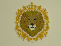 Animal Iron-on Patch. Embroidered Patch Glue-on Patch Sew-On Patch. Lion in Baroque Crown Patch Sew On Patches, Iron On Patches, Embroidered Quilts, Irish Dance, Embroidery Thread, Creative Crafts, Quilt Blocks, Baroque, Lion Sculpture