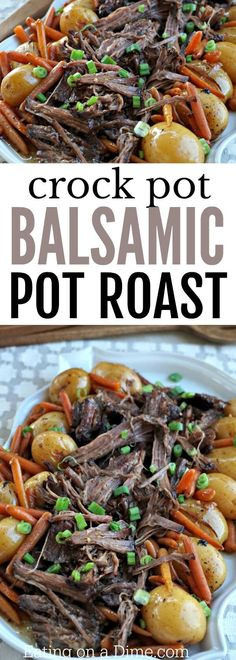 Try this easy Balsamic Crock pot Pot Roast Recipe! This recipe is so tender and delicious!