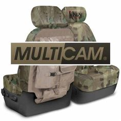 King's Arsenal Multicam MOLLE seat covers.