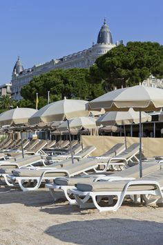 The beach @ Mercure Cannes Croisette Beach #CoteDAzur #France