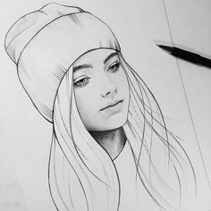 Sketchin art i 2019 drawings, art sketches och realistic drawings в яндекс. Girl Drawing Sketches, Girl Sketch, Pencil Art Drawings, Realistic Drawings, Cute Drawings, Drawing Style, Drawing Drawing, Amazing Drawings, Drawing Faces