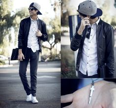 Switchblades & leather (by Adam Gallagher) http://lookbook.nu/look/2921429-Switchblades-leather