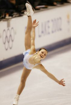 Sasha Cohen at the 2002 Olympics with a beautiful smile!