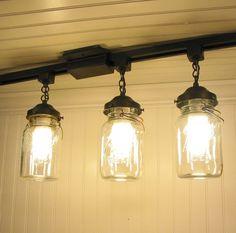 Interior Creative Diy Track Lighting With Gl Lamp Shades Design Idea Plus Plain White Painted