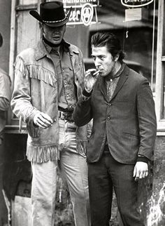 on Voight and Dustin Hoffman in Midnight Cowboy