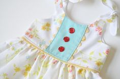Itty Bitty Baby Dress pattern- Free (link to pattern is in this post)