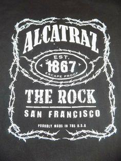 a1d25d0d Alcatraz Est 1867 The Rock T Shirt Size XL Organic Black #anvilorganic #GraphicTee  Funny