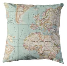 Hey i found this really awesome etsy listing at httpsetsy world map bedding map set of 1 blanket and 2 cushions gumiabroncs Images