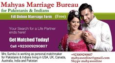 Pakistani marriage bureau and Pakistani Matrimonial site for Pakistani british and Pakistani Ameriacn girls and men for marriage,. They are workign for educated and well settled Paksitani people in World.