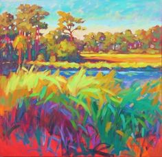 Love this.  Love using bold, exaggerated versions of color.  Betty Anglin Smith - Southern Pines/Botany Bay.