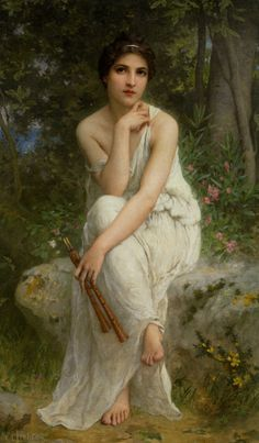 The Flute player, Charles Amable Lenoir. French (1860-1926)