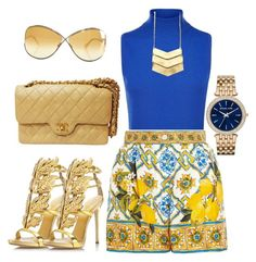 """Virgin Lemonade"" by thestylesnitch on Polyvore featuring Harrods, Dolce&Gabbana, Chanel, Giuseppe Zanotti, Tom Ford and Michael Kors"