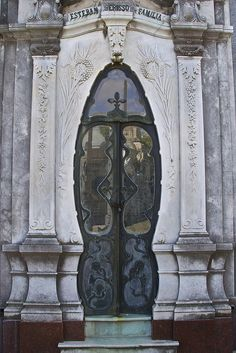 South America...One of the tombs in the Recoleta Cemetery, Buenos Aires, Argentina. door