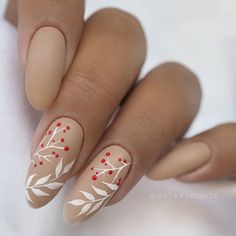 Rose Nails, Flower Nails, My Nails, Classy Nails, Simple Nails, Holiday Nails, Christmas Nails, Nailart, Nail Tip Designs