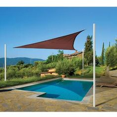 Invest in a sun shade today! sun shade sail triangle, terracotta - shade cloth and sails EKQWGVQ