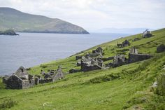 Remains of a community on Great Blasket Island, County Kerry, Ireland