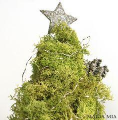 Chartreuse Reindeer Moss Tabletop  Christmas Tree