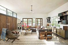 Wabi-sabi living room. Design: Pamela Shamshiri for Commune Design. Photo: Amy Neunsinger. housebeautiful.com #livingroom #wabisabi