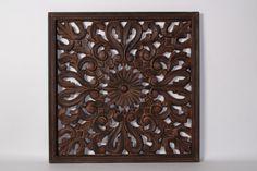 Wandpaneel 75x75cm Botones burned brown (98222kb)