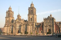 Catedral Metropolitana in Mexico City.  Built with the stone from torn down Aztec structures