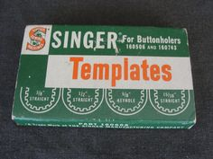 Box Singer Buttonholer Templates 160668 for 160506 and 160743 by marketsquareus on Etsy
