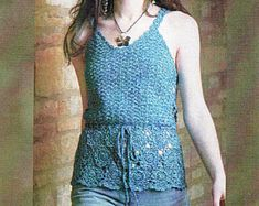 Crochet Pattern LADIES CROCHET Dress  Charted  only