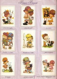 6531 - ALBUM DIAS FELICES AÑO 1981 Sarah Key, Decoupage Printables, Victorian Dollhouse, Holly Hobbie, Small Canvas, Vintage Cartoon, Vintage Paper Dolls, Valentine Crafts, Vintage Children
