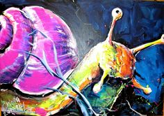 Schnecke snail Fish, Pets, Painting, Animals, Canvas Frame, Snail, Art, Nice Asses, Painting Art