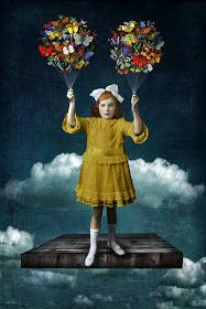 Beth Conklin - Mixed Media & Digital Art - Fortune sides with him who dates. Digital Collage, Collage Art, Digital Art, Photomontage, Painting For Kids, Art For Kids, Ephemeral Art, Surrealism Painting, Illustrations And Posters