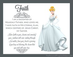 Young Women Value Disney Princess Posters | Faith: Cinderella