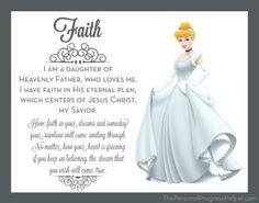Young Women Value Disney Princess Posters   Faith: Cinderella