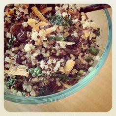 lunch idea: spiked quinoa salad.