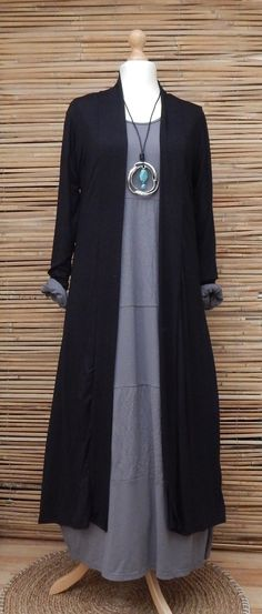 """LAGENLOOK AMAZING BOHO SOFT LONG CARDIGAN/COAT*BLACK* SIZE L/XL BUST 38-40-42"""" in Clothes, Shoes & Accessories, Women's Clothing, Jumpers & Cardigans 