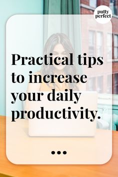 Practical tips to increase daily productivity. Productivity, Let It Be, Tips, Blog, How To Make, Blogging, Counseling
