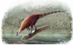 *Parksosaurus warreni, perplexed by its reflection. Art by Gabriel N.Ugueto